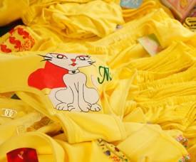 Selling yellow underwear