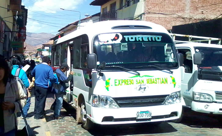 Buses in Cusco Peru