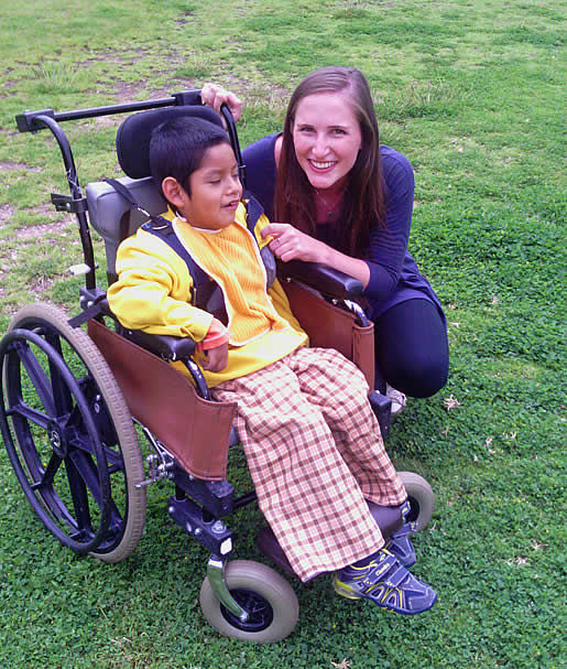 Volunteer Lawrence in Peru