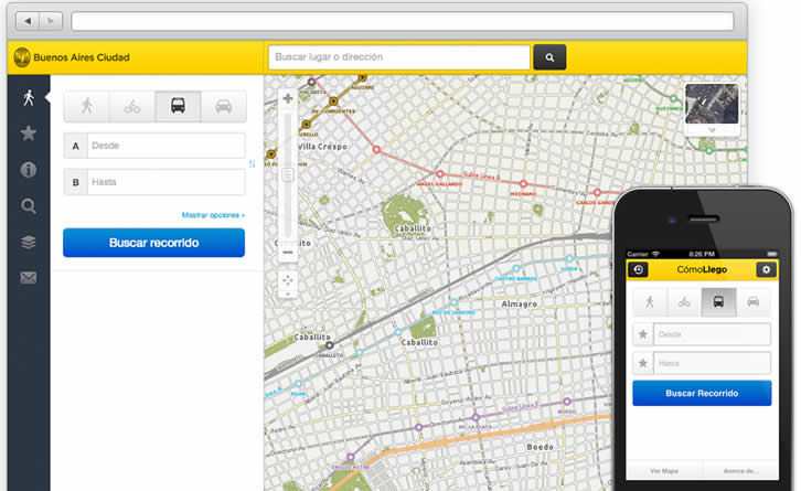 This application will guide you from one place to another all over Buenos Aires.