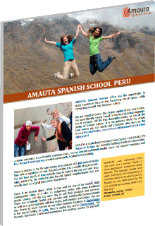 Amauta Spanish School General Brochure