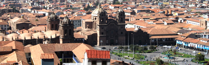 Cusco overview, main square of the city