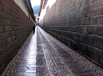 Streets of the city of the Cusco, Peru