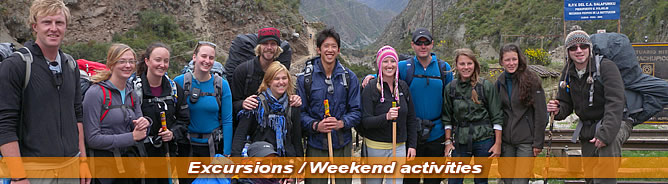 Excursions and Weekend activities