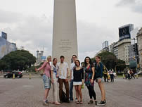 "Our students in ""El Obelisco"" - Buenos Aires"