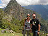 Our students near to Machu Picchu