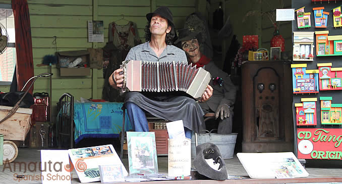 Street musician in the streets of Buenos Aires