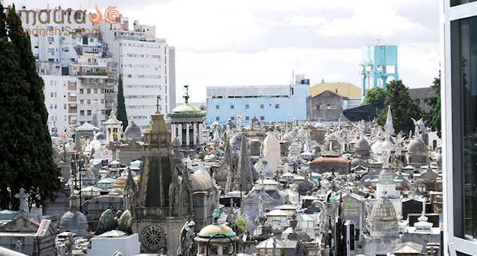 Cemetery of Recoleta in Buenos Aires