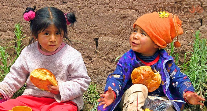 Peruvian children at the Christmas Party