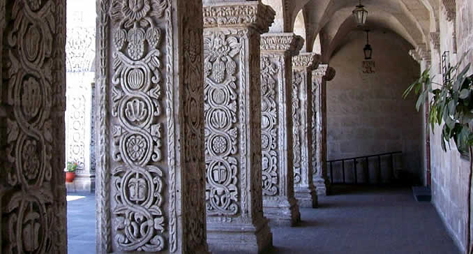 Cloisters of La Compañia in Arequipa
