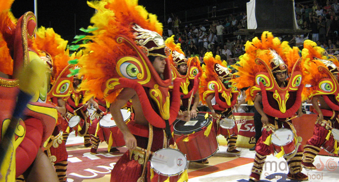 competition between samba clubs at the carnival picture