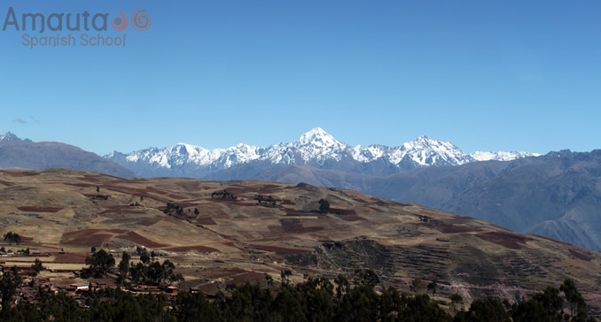 Cusco Mountains covered in snow