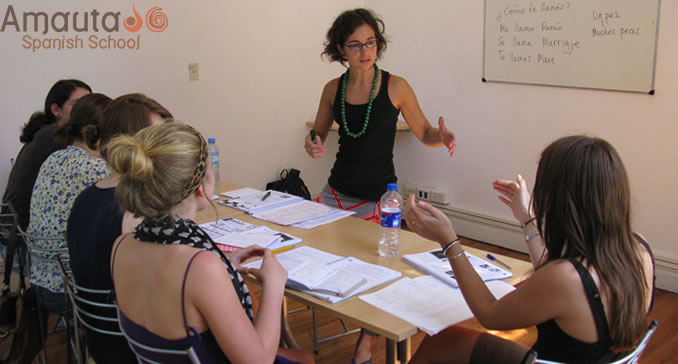 Group class at our Spanish school in Buenos Aires