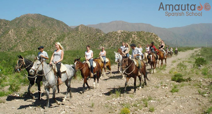 Horseback riding in the High Andes