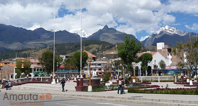 Huaraz City, the capital city of the Ancash Region in Peru