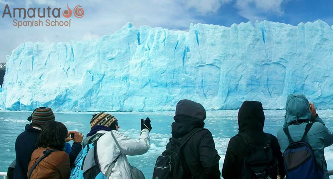 Ice fields of the Andes in national parks of Patagonia