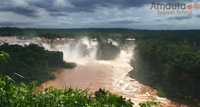 Most of Iguazu Falls are on the Argentinean side.
