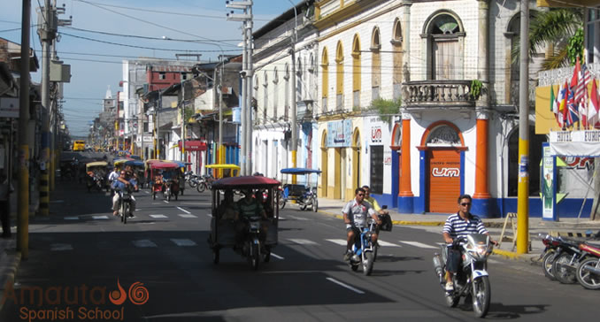Iquitos, a city full of motorcycles