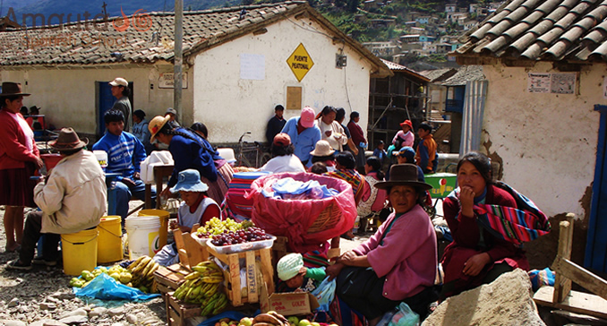 Market of Paucartambo, a small town of Cusco