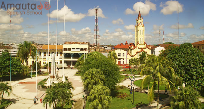 Overview of the Parade Square of Iquitos, Peru