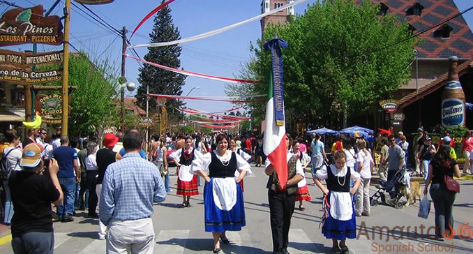 Parade during the Oktoberfest in Villa General Belgrano