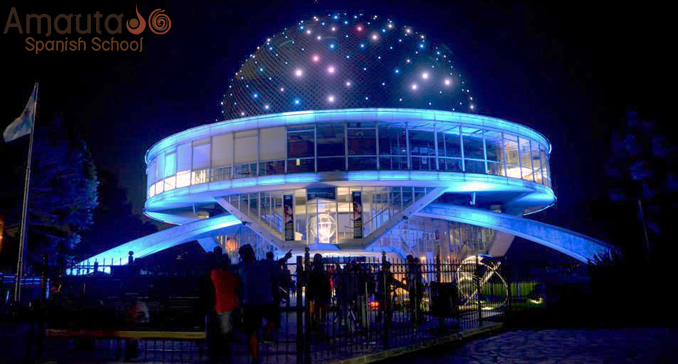 Planetarium in Buenos Aires by night