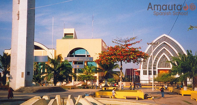 City of Pucallpa on the banks of the Ucayali River