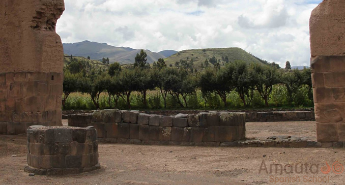 Raqchi, an important Inca archaeological site