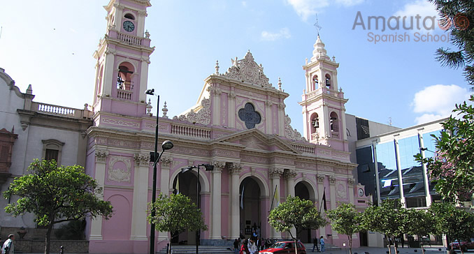 Salta's neoclassical cathedral located at the 9th of July Square