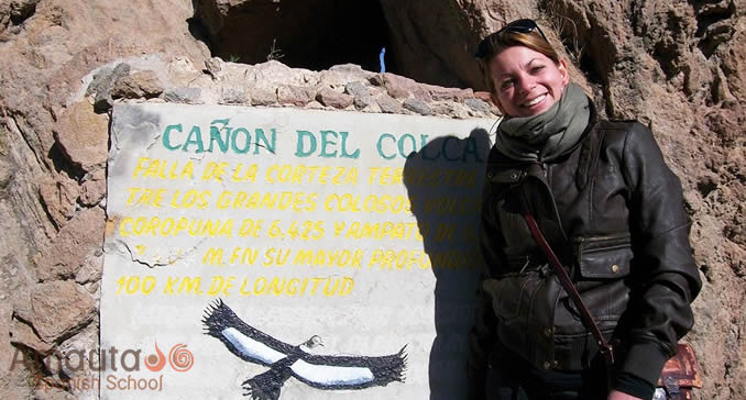 Spanish student visiting Colca Canyon