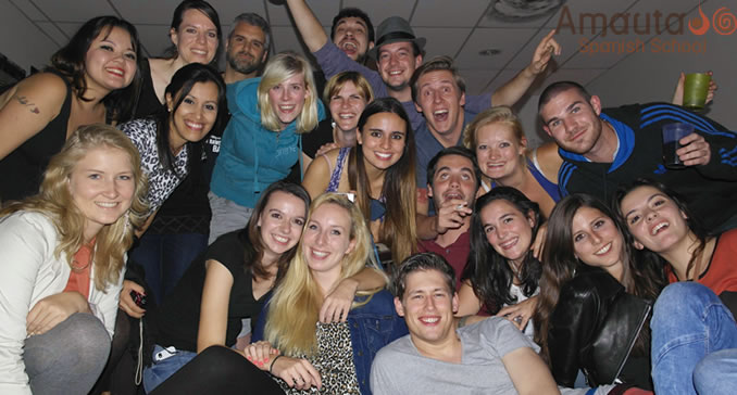 Amauta students in Buenos Aires, all partying together as one big family!