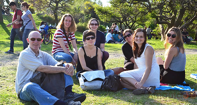 Students at Buenos Aires Ecological Reserve