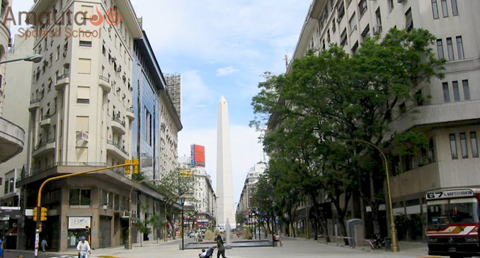 The obelisk of Buenos Aires
