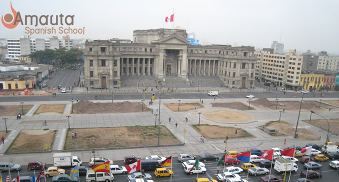 The Palace of Justice in Lima