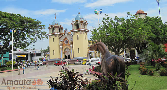 Tumbes City on the banks of the River Tumbes