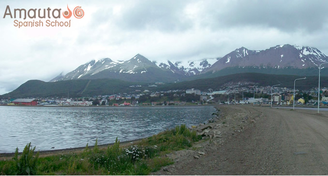 The bay of Isla grande Tierra del Fuego