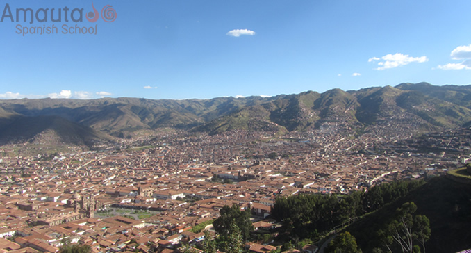 View over Cusco from Cristo Blanco