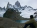 Glaciers and snowy mountain tops in Patagonia