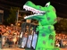A huge handmade crocodile at the carnival