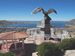 Panoramic view over Puno and Lake Titicaca