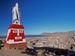 Panoramic view over Puno with Inca monument