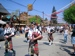 Scottish people playing the bagpipe