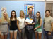 Spanish students receive their diploma of their Spanish course