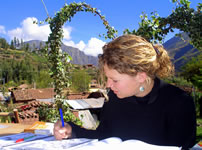 Our student in our spanish school in the Sacred Valley