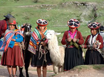 Andean people in the Sacred Valley, Cusco - Peru