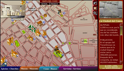 Cusco interactive Map (virtual)