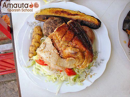 Lechon al horno amauta spanish school for Lechon al horno de cocina
