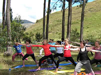 Yoga session, near Saccsayhuaman