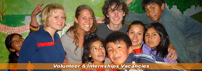 Volunteer & Internships Vacancies